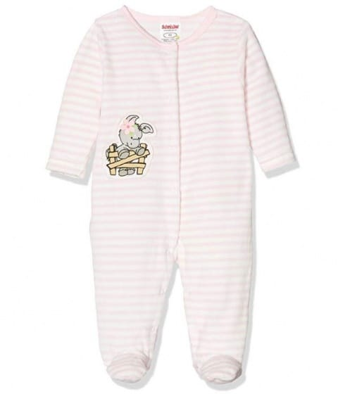 playshoes babypyjama olifant meisjes wit roze 338725 1574773644