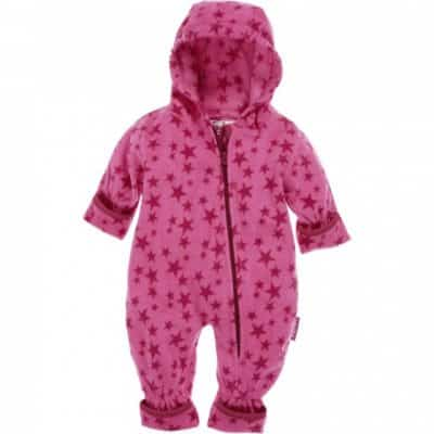 playshoes babypyjama onesie fleece junior sterren roze 335617 1573980213 1