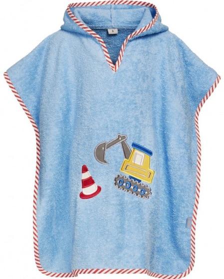 playshoes badponcho graafwerken junior katoen blauw 480732 1603375597