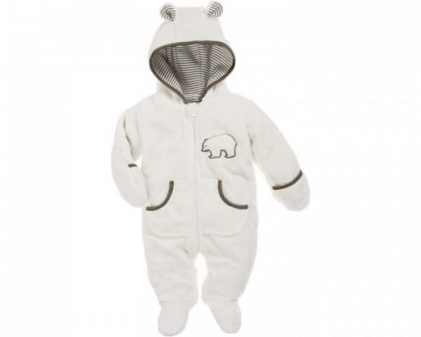 playshoes knuffelig fleece overall met rits junior beige 338110 20191123160614