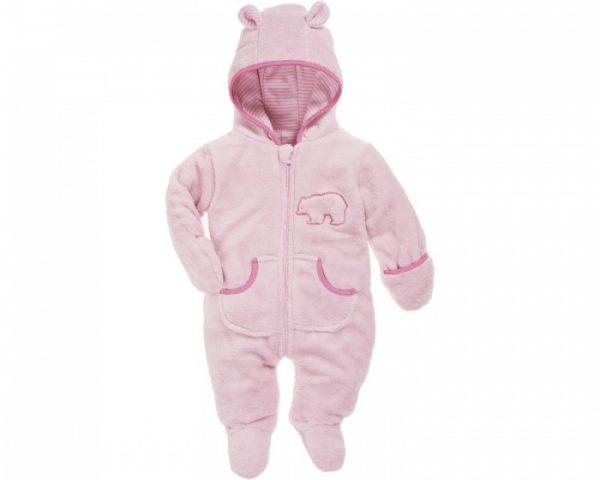 playshoes knuffelig fleece overall met rits meisjes roze 338088 1574517843 1