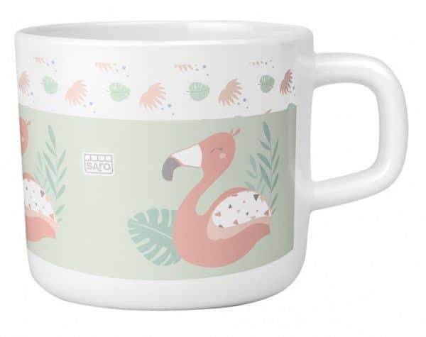 saro eetset flamingo party melamine 6 delig zalmroze groen wit 2 348932 1578061643