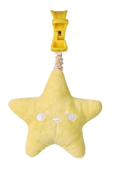 saro hangfiguur met geluid ster 21 cm polyester geel 478189 1603106053