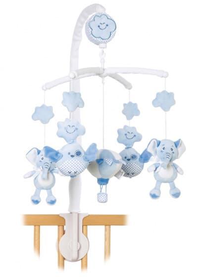 saro muziekmobiel sweet woolly olifant vogel 39 cm blauw 479364 1603264337