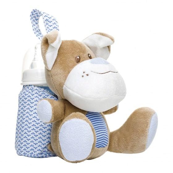 saro tas voor babyfles hond blauw bruin wit 23 cm 349814 1578394142