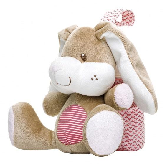 saro tas voor babyfles konijn rood bruin wit 23 cm 349811 1578393985