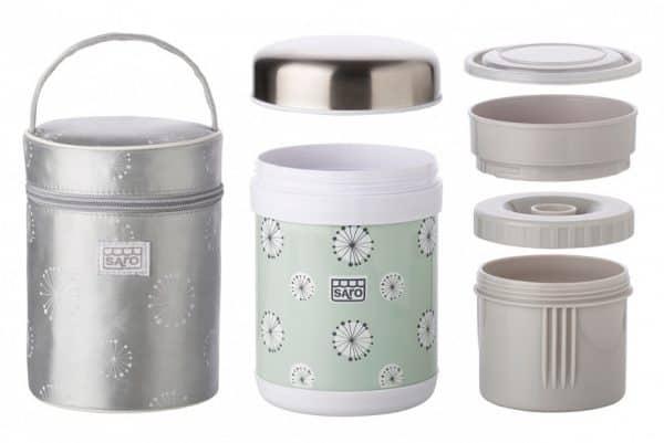 saro thermoskan voor babyvoeding met tas 900 ml groen 349422 20200106135243