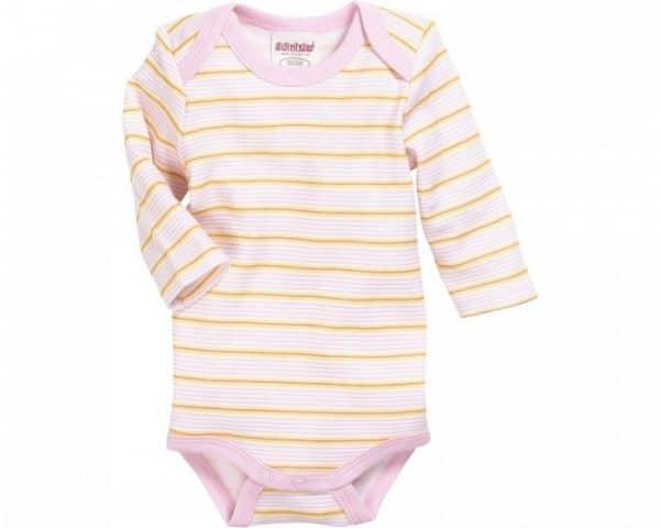 schnizler romper beren lange mouw roze geel 2 stuks mt 50 56 2 361761 1581329224
