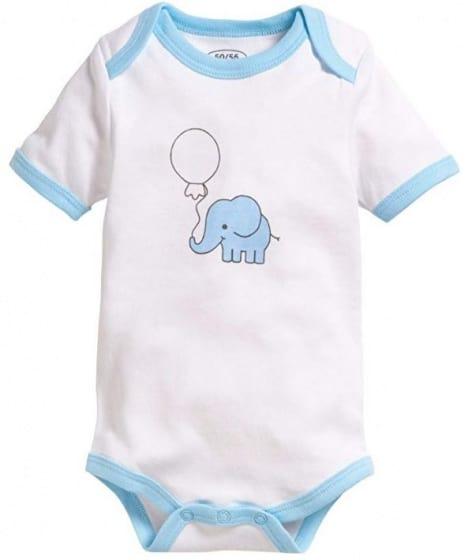 schnizler romper olifant korte mouw blauw wit 2 stuks mt 50 56 2 355350 1579689794