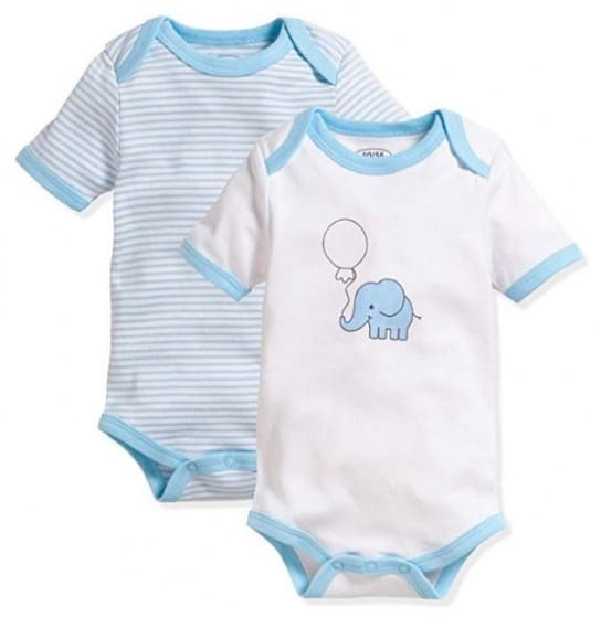 schnizler romper olifant korte mouw blauw wit 2 stuks mt 50 56 355350 1579689794