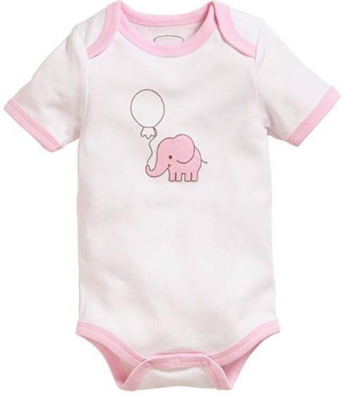 schnizler romper olifant korte mouw roze wit 2 stuks mt 50 56 2 355333 1579688849