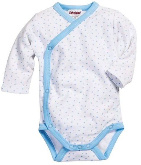schnizler romper wrap body ster junior lichtblauw wit 354594 1579589438
