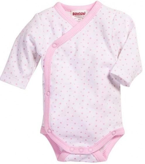 schnizler romper wrap body ster junior roze wit 354599 1579590044
