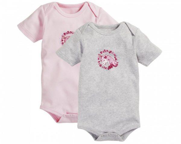 schnizler tomper unicorn korte mouw roze grijs 2 stuks 361072 1581077974