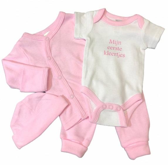 soft touch babykleding set katoen roze 4 delig mt 50 56 472638 1602071924