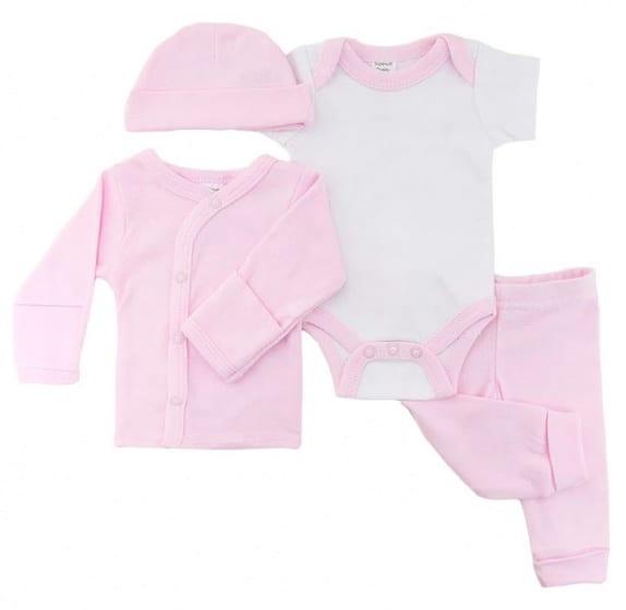 soft touch babykleding set meisjes katoen roze 4 delig mt 50 56 472660 1602073051