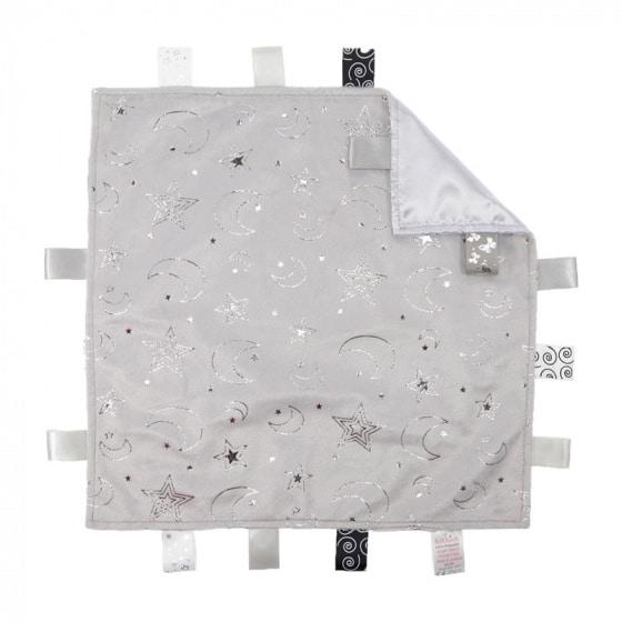 soft touch knuffeldoekje met labels grijs zilver 35 cm 372964 1585149739