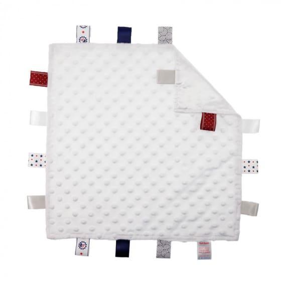 soft touch knuffeldoekje met labels wit 35 cm 372811 1585138150