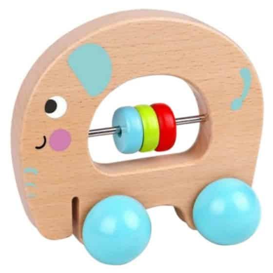 tooky toy speelfiguur olifant junior 11 cm hout naturel blauw 429150 20200706141259
