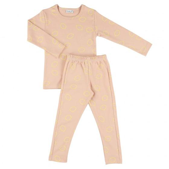 trixie pyjama lang lemon squash meisjes katoen roze geel 405707 1590653782 2