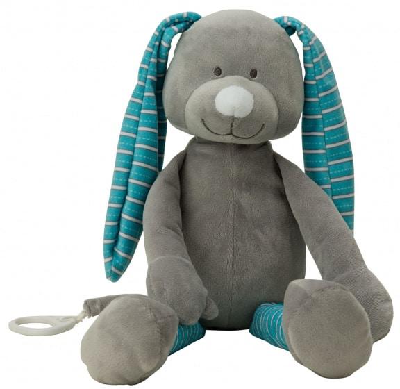 vaco knuffel konijn 40 cm polyester blauw 472566 1602066840