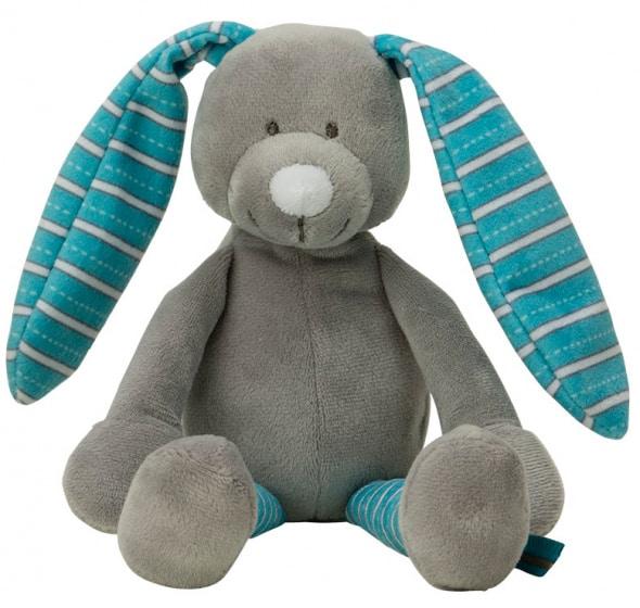 vaco knuffel konijn muzikaal 24 cm polyester blauw 472527 20201007121453