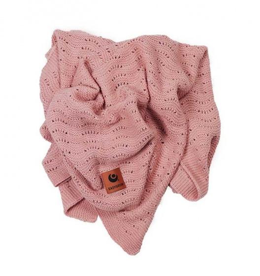 easygrow babydeken grandma wave 110 cm roze 406686 1590744168