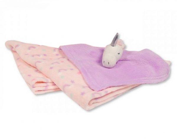snuggle baby babydeken met unicorn knuffeldoekje roze lila set 2 delig 348455 20200102140833