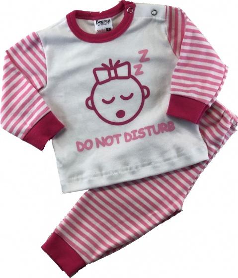 beeren babypyjama do not disturb roze wit 329854 1572426883