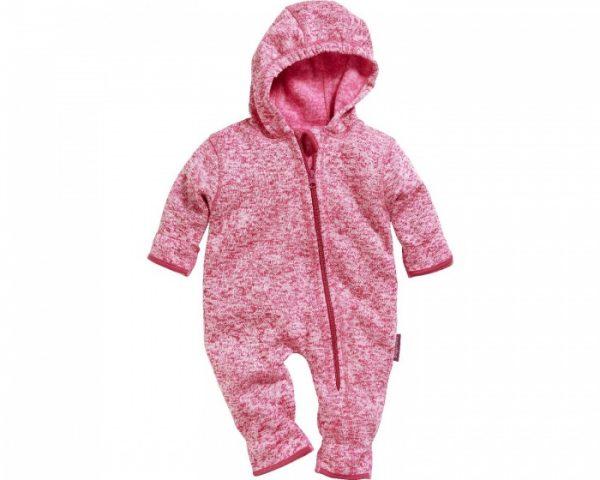 playshoes babypyjama onesie gebreide fleece roze 335658 1573983344