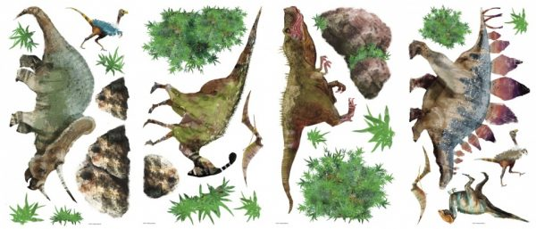 roommates muurstickers dinosaurussen vinyl 25 stuks groen 337492 1574410067