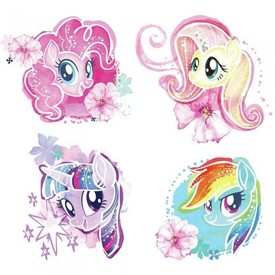 roommates muurstickers my little pony vinyl 4 stuks 2 337741 1574429489
