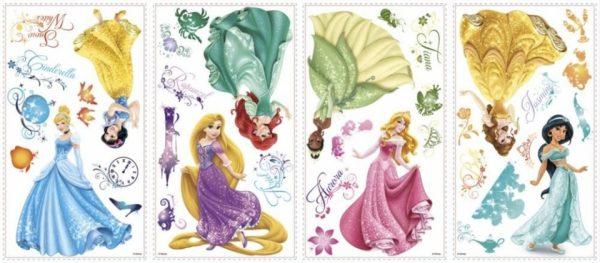 roommates muurstickers princess glitter vinyl 37 stuks 342393 1575992406