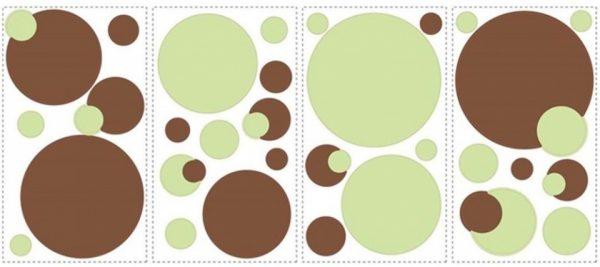 roommates muurstickers stippen vinyl 31 stuks groen bruin 337372 1574346505