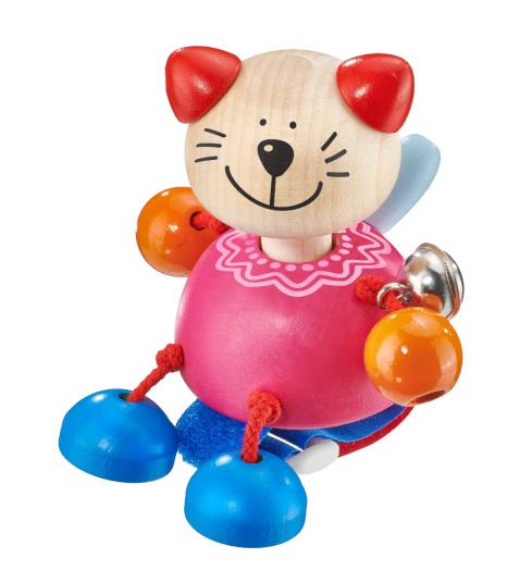 selecta buggyspeelgoed kitten meisjes 11 cm hout roze 433017 1594652094