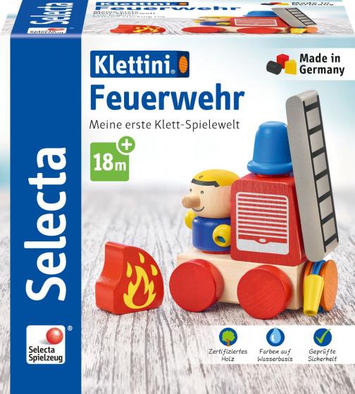 selecta speelset brandweerwagen junior hout rood naturel 7 delig 2 432612 1594638343