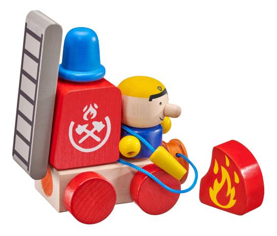 selecta speelset brandweerwagen junior hout rood naturel 7 delig 432612 1594638343