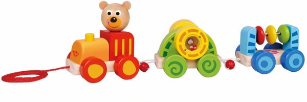 tom speelgoedtrein beer junior 15 cm hout 3 delig 425604 1593430645