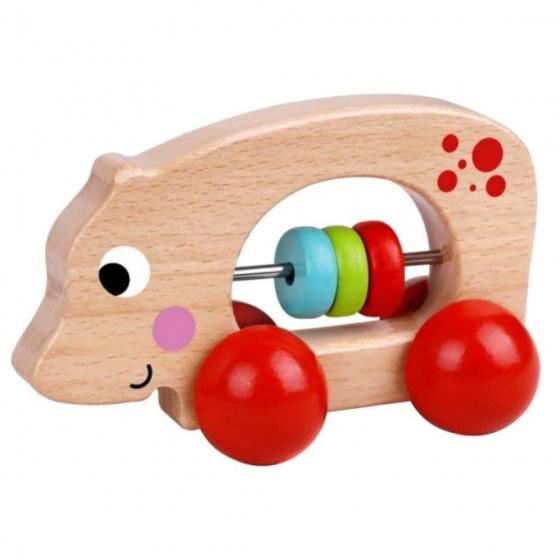 tooky toy speelfiguur nijlpaard junior 11 cm hout naturel rood 429153 1594037634