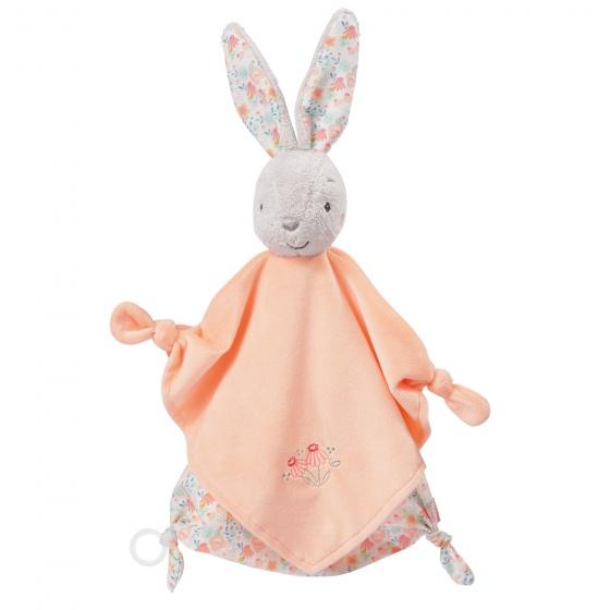 fehn knuffeldoekje konijn 40 cm zalmroze 312658 1566554194