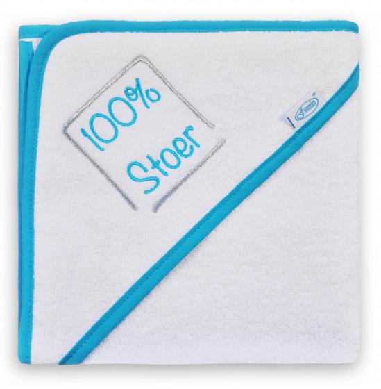 funnies badcape 100 stoer junior 80 cm katoen wit blauw 449792 1597831942