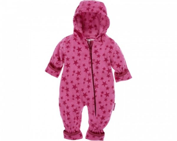 playshoes babypyjama onesie fleece junior sterren roze 335617 1573980213