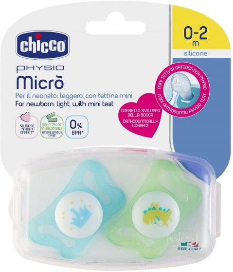 chicco fopspeen dino kroonphysio micro blauw groen 2 stuks 2 431868 1594449807