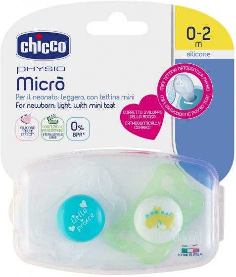 chicco fopspeen dino prins physio micro blauw groen 2 stuks 2 431866 20200711084349