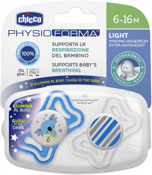 chicco fopspeen koala streep physio light blauw wit 2 stuks 2 431894 1594452979