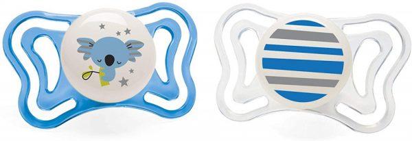chicco fopspeen koala streep physio light blauw wit 2 stuks 431894 1594452979