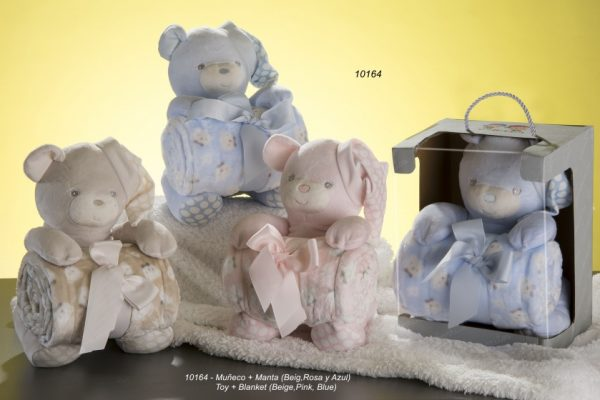 gamberritos babydeken met knuffelbeer 80 x 110 cm fleece blauw 2 365290 1582715878 1