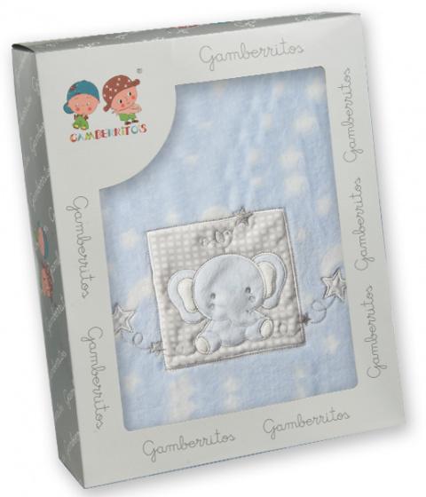 gamberritos beddenset 80 x 120 cm blauw polyester 3 delig 556675 1614606712
