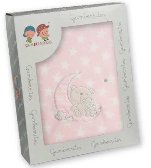gamberritos beddenset 80 x 120 cm polyester roze 3 delig 556666 1614606325