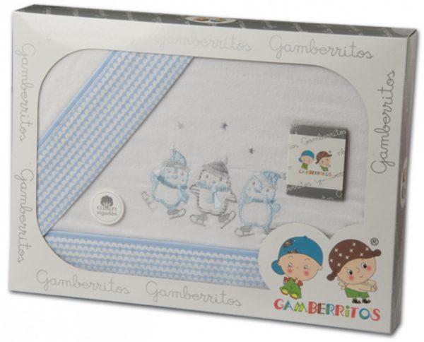gamberritos beddenset junior 80 x 120 cm blauw katoen 3 delig 556678 1614607279